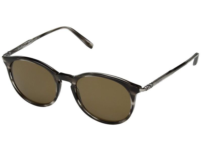 サルヴァトーレ フェラガモ メンズ サングラス・アイウェア アクセサリー SF911SM Striped Grey/Solid Brown