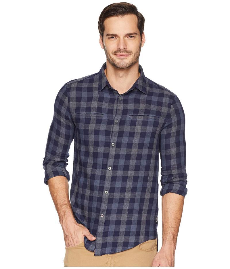 ジョンバルバトス メンズ シャツ トップス Long Sleeve Button Front Shirt Navy
