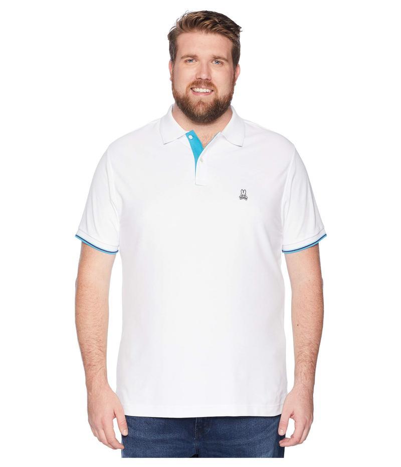 サイコバニー メンズ シャツ トップス Big and Tall St Croix Polo White
