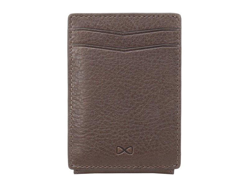 トラファルガー メンズ 財布 アクセサリー Mason Magnetic Front Pocket Wallet Dark Brown