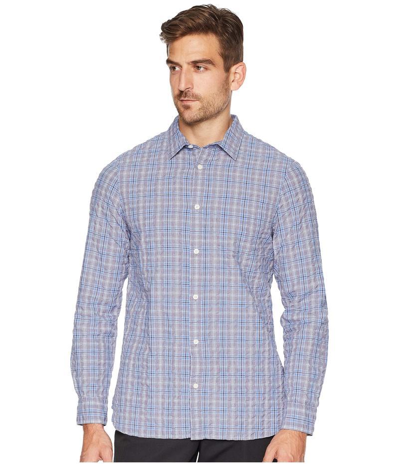 カルバンクライン メンズ シャツ トップス Long Sleeve Flannel Button Down Clear Sky