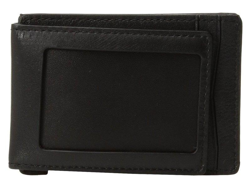 トラファルガー メンズ 財布 アクセサリー Mason Magnetic Front Pocket Wallet Black