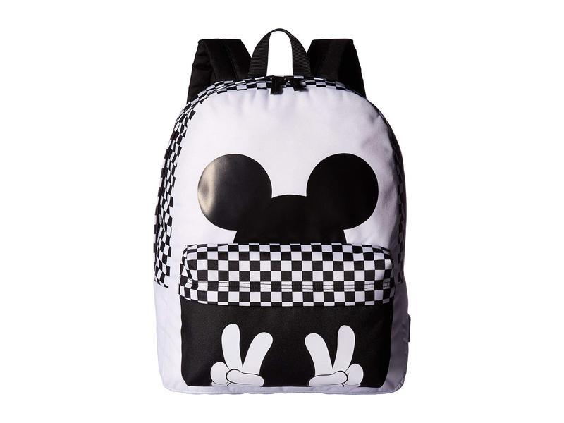 バンズ レディース バックパック・リュックサック バッグ Mickey's 90th Checkerboard Mickey Realm Backpack White/Black