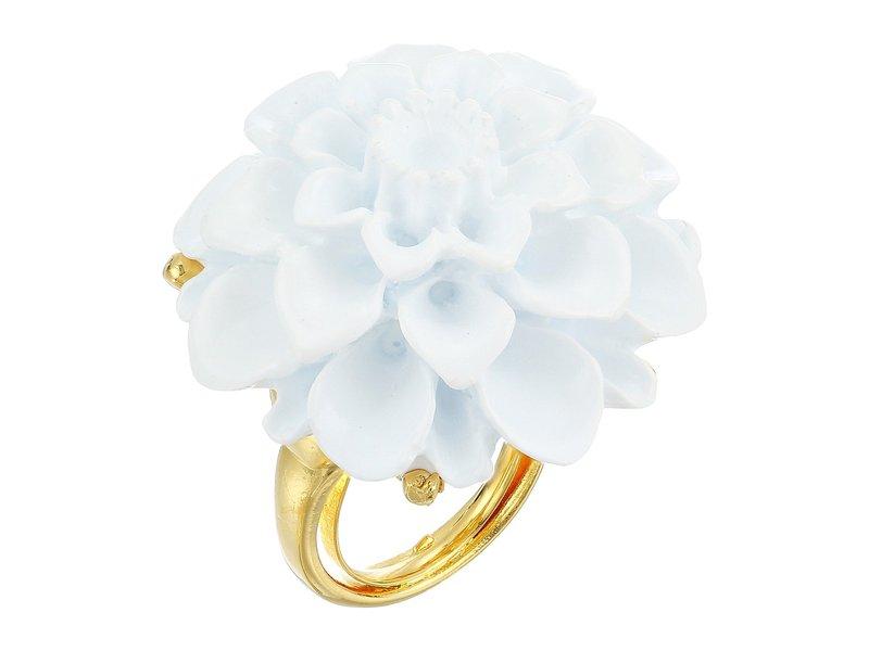 ケネスジェイレーン レディース リング アクセサリー Gold/White Flower Ring White