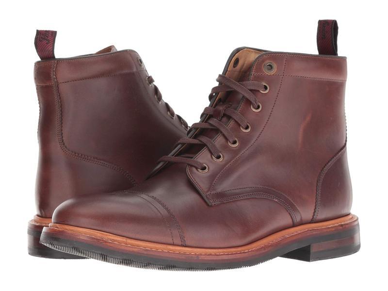 フローシャイム メンズ ブーツ・レインブーツ シューズ Foundry Cap Toe Lace-Up Boot Brown Horween:ReVida 店