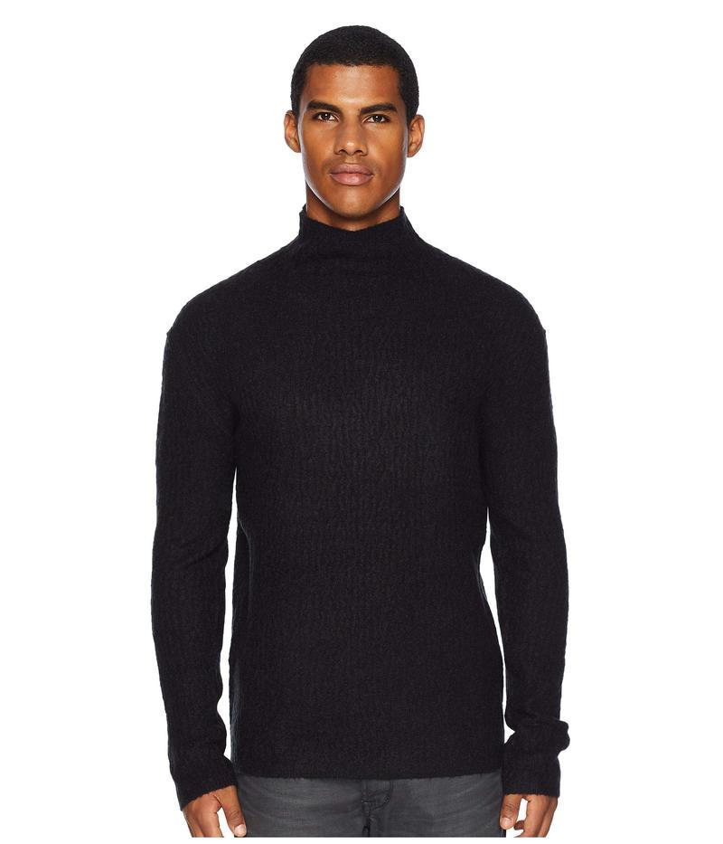 ジョンバルベイトス メンズ ニット・セーター アウター Long Sleeve Cable Mock Neck Y2552U3 Black
