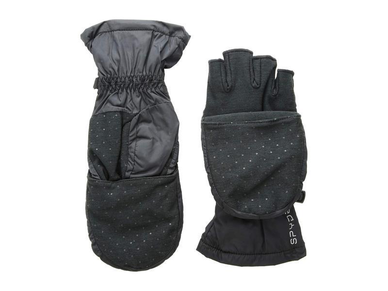 スパイダー レディース 手袋 アクセサリー Solitude Convertible Mitten Black/Black