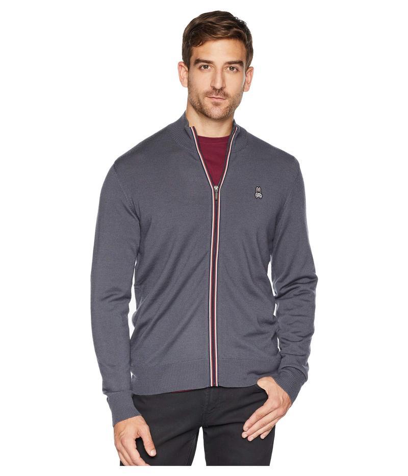 サイコバニー メンズ ニット・セーター アウター Full Zip Wool Sweater Black Sand