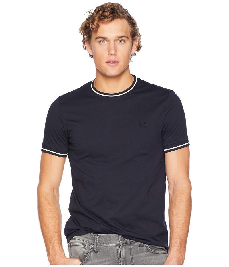フレッドペリー メンズ シャツ トップス Twin Tipped Ringer T-Shirt Navy