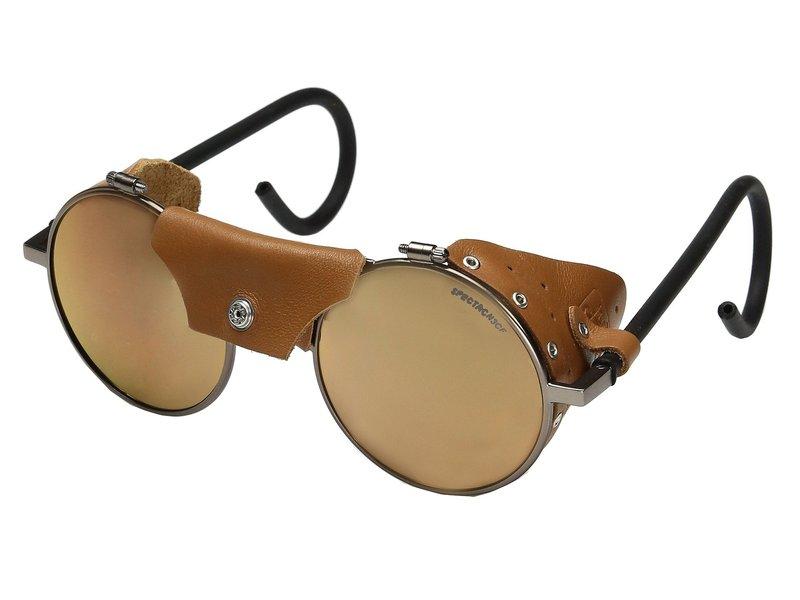 ジュルボアイウェア メンズ サングラス・アイウェア アクセサリー Vermont Classic Sunglasses Brass/Brown with Spectron 3 Color Flash Lens
