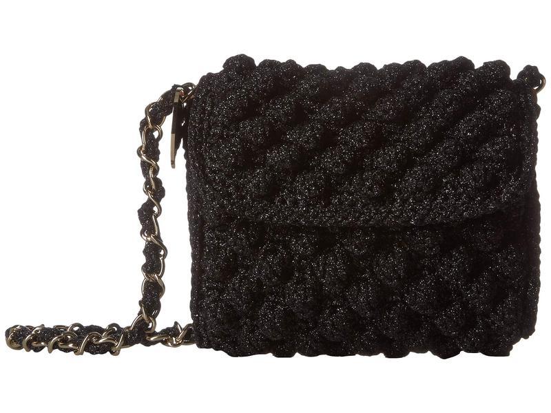 エム ミッソーニ レディース ハンドバッグ バッグ Solid Lurex Raffia Bag Black