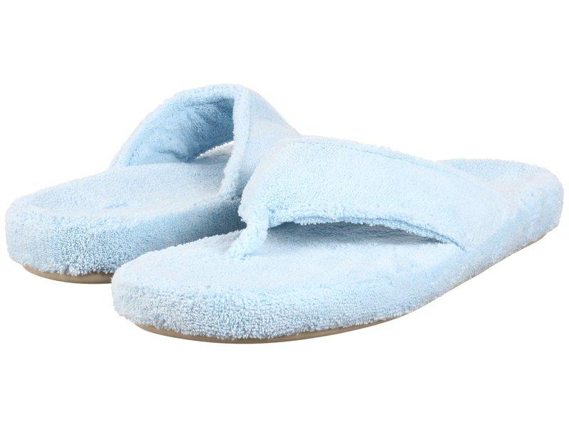 エイコーン レディース サンダル シューズ New Spa Thong Powder Blue Fabric