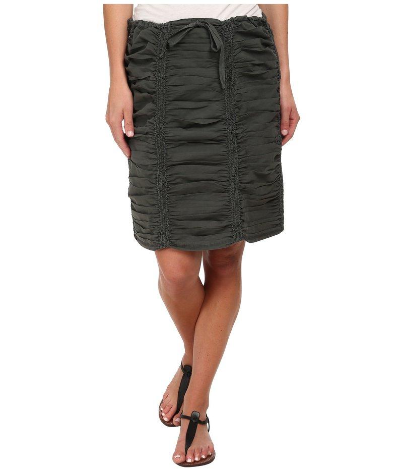 エックスシーブイアイ レディース スカート ボトムス Double Shirred Panel Knee Length Skirt Moonrock
