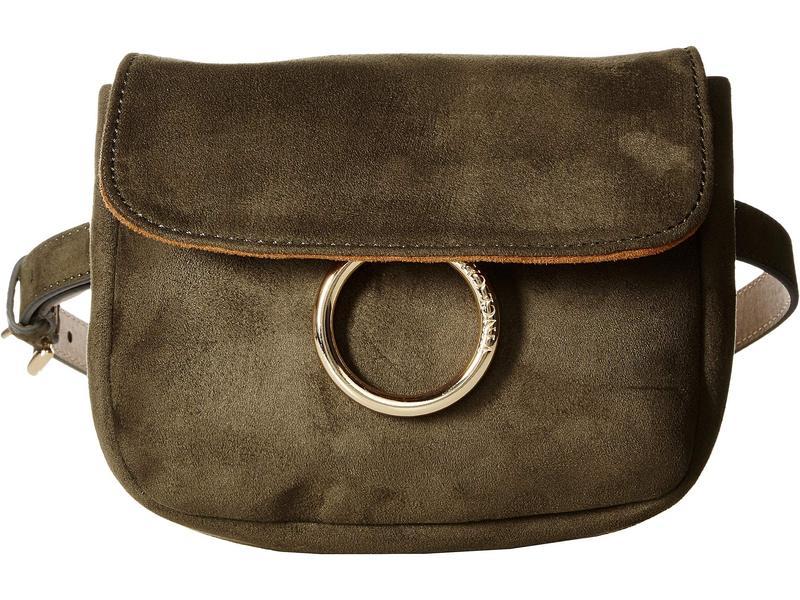 ヴィンスカムート レディース ボディバッグ・ウエストポーチ バッグ Suede with Ring Detail Belt Bag Olive