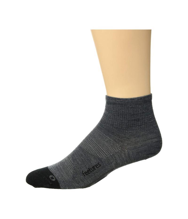 フィーチャー メンズ 靴下 アンダーウェア Merino 10 Ultra Light Quarter 3-Pair Pack Gray
