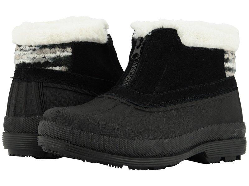 プロペット レディース ブーツ・レインブーツ シューズ Lumi Ankle Zip Black/White