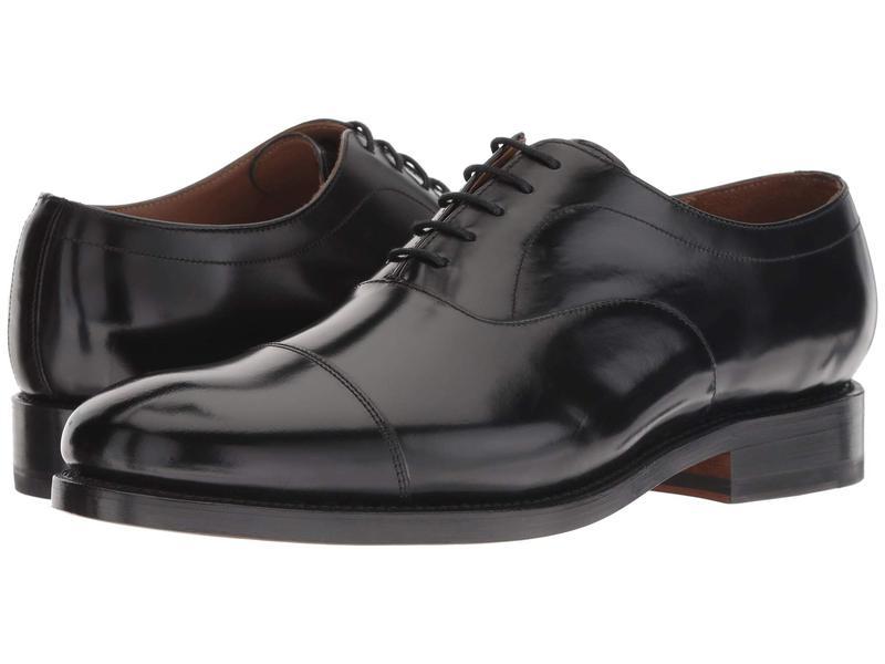 ボストニアン メンズ オックスフォード シューズ Rhodes Cap Black Leather