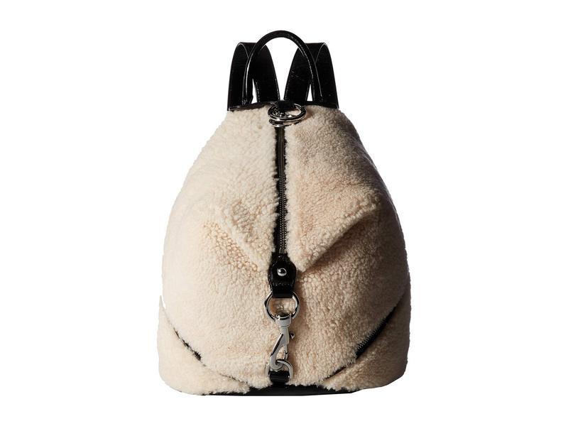 レベッカミンコフ レディース バックパック・リュックサック バッグ Shearling Julian Side Zip Backpack Natural