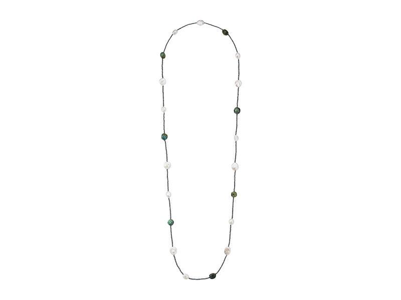 ディーバークレイ レディース ネックレス・チョーカー・ペンダントトップ アクセサリー Pearl and Hematite Layered Necklace Turquoise