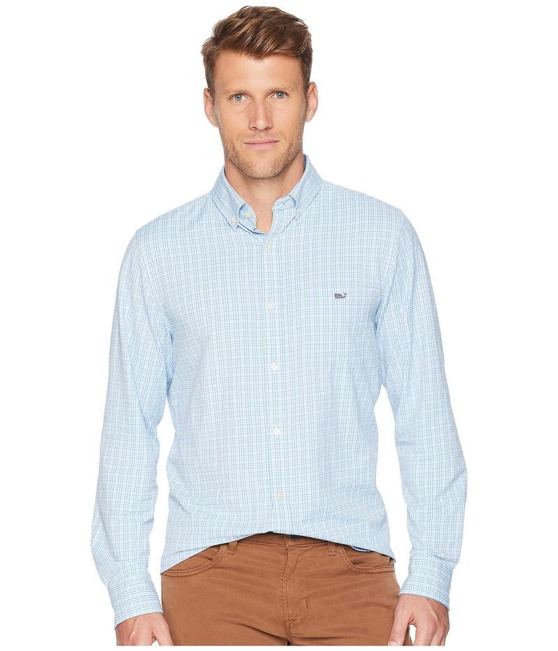 ヴァインヤードヴァインズ メンズ シャツ トップス Boldwater Plaid Classic Tucker Shirt Starboard Green
