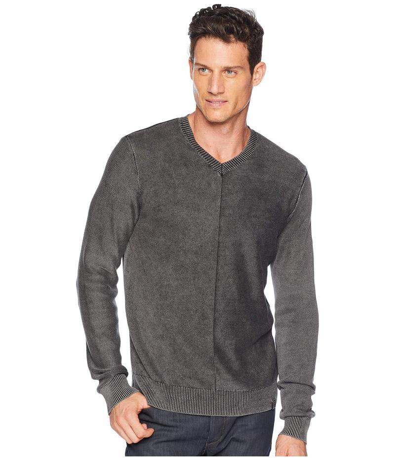ラッキーブランド メンズ ニット・セーター アウター Washed V-Neck Sweater Phantom