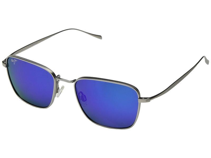 マウイジム メンズ サングラス・アイウェア アクセサリー Spinnaker Titanium/Blue Hawaii