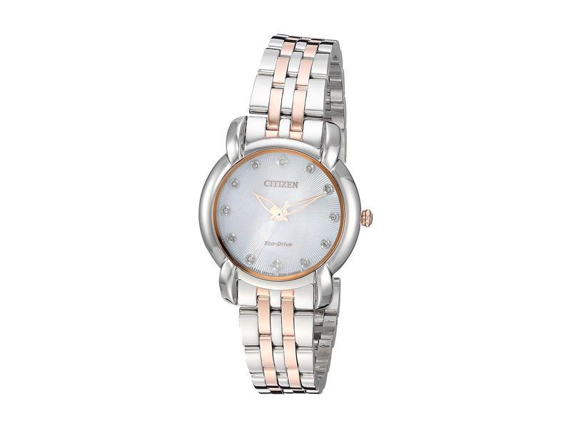 シチズンウォッチ レディース 腕時計 アクセサリー EM0716-58A Jolie Two-Tone