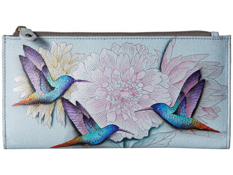 アヌスカ レディース ハンドバッグ バッグ 1121 Two Fold Wallet Rainbow Birds