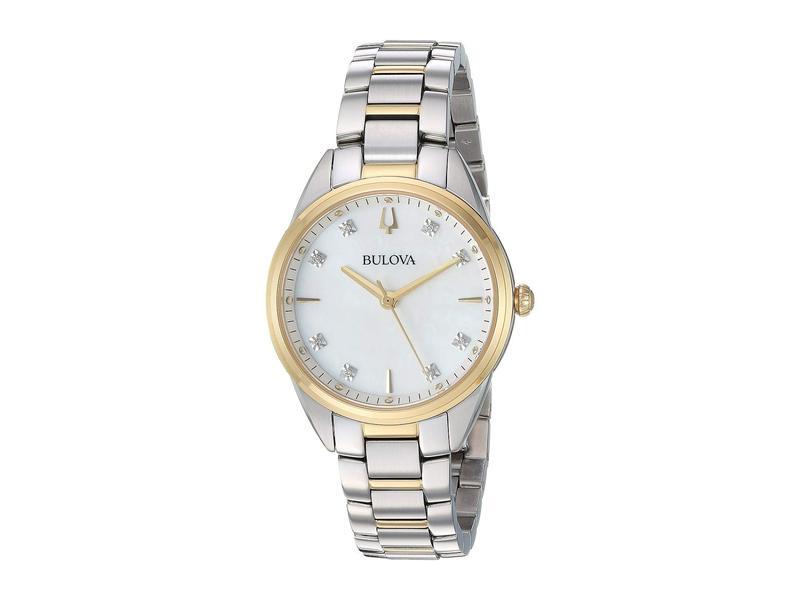 ブロバ レディース 腕時計 アクセサリー Sutton - 98P184 Two-Tone Yellow