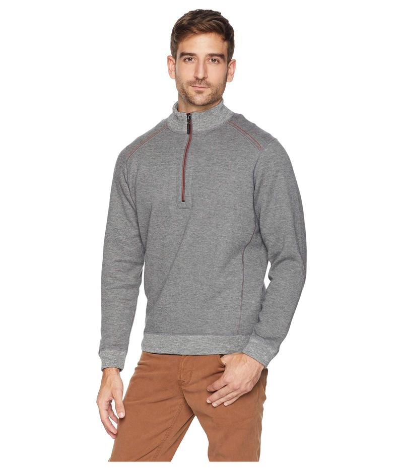 Black Cherry Heather. Tommy Bahama Reversible Pullover Sweater