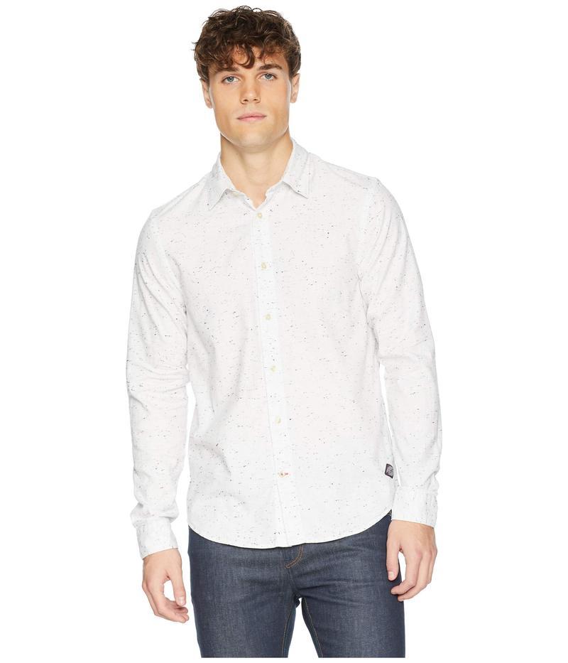 スコッチアンドソーダ メンズ シャツ トップス Regular Fit Classic Shirt in Neppy Quality Denim White