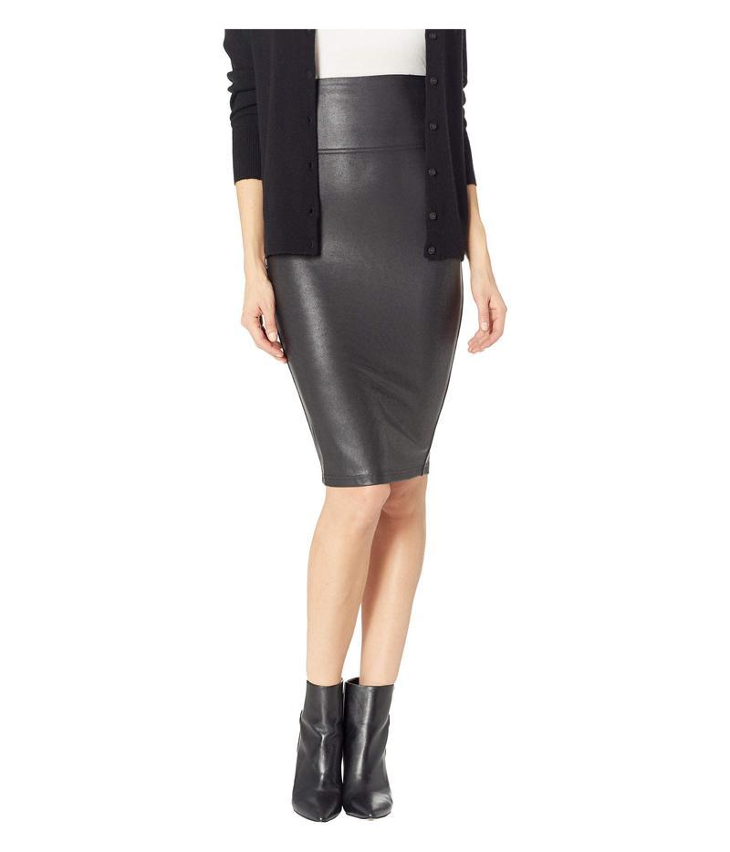 スパンク レディース スカート ボトムス Faux Leather Pencil Skirt Very Black