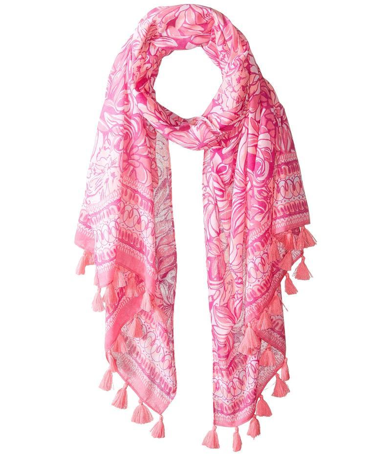 リリーピュリッツァー レディース マフラー・ストール・スカーフ アクセサリー Resort Scarf Bougainvillea Pink Pawsitive Cattitude