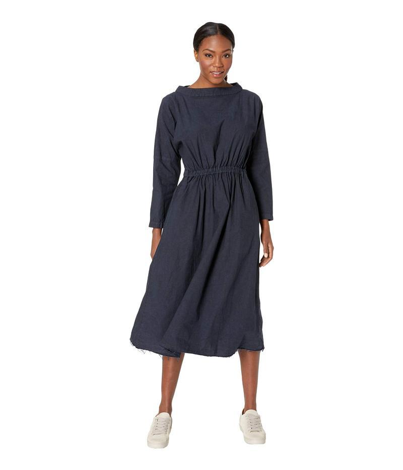 スノーピーク レディース ワンピース トップス Organic Cotton Shirring Dress Black