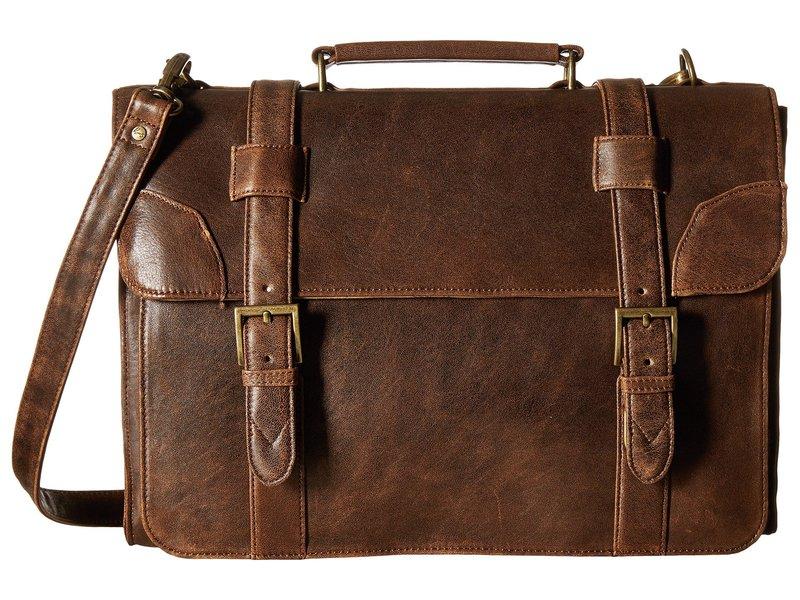 スカーリー メンズ ビジネス系 バッグ Squadron Satchel Briefcase Antique Brown