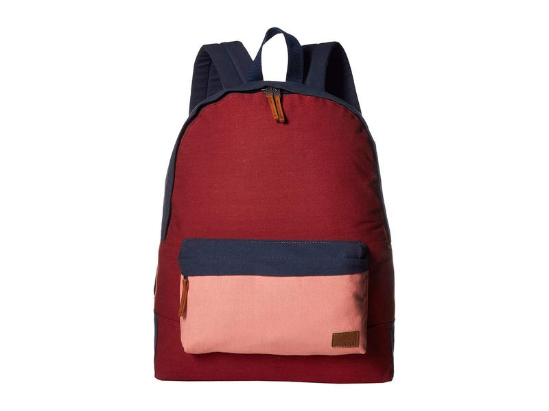 ロキシー レディース バックパック・リュックサック バッグ Sugar Baby Canvas Color Block Backpack Oxblood Red