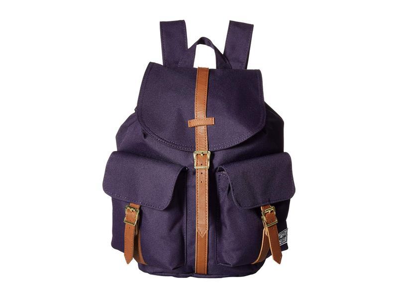 ハーシェルサプライ メンズ バックパック・リュックサック バッグ Dawson X-Small Purple Velvet/Tan Synthetic Leather