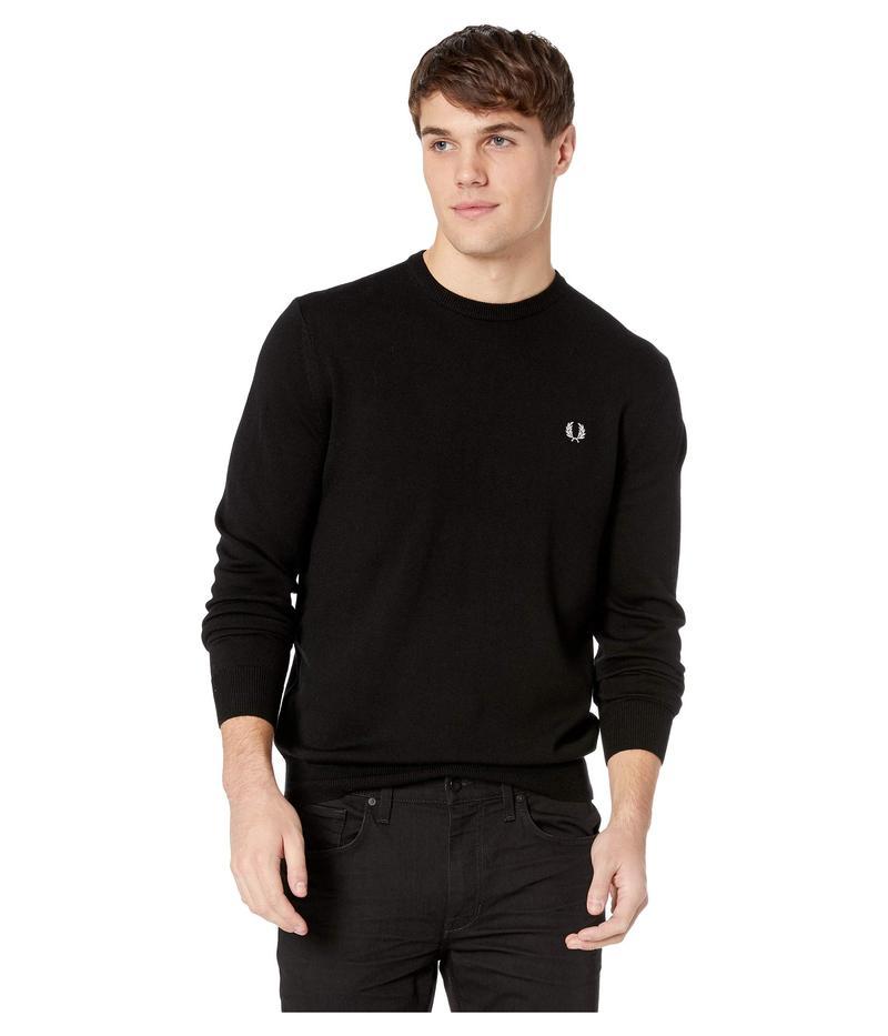 フレッドペリー メンズ ニット・セーター アウター Classic Crew Neck Sweater Black