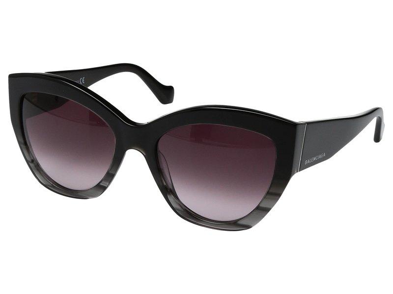 バレンシアガ レディース サングラス・アイウェア アクセサリー BA0103 Striped Gradient Black/Opal Black Temple/Light Ruthenium Details