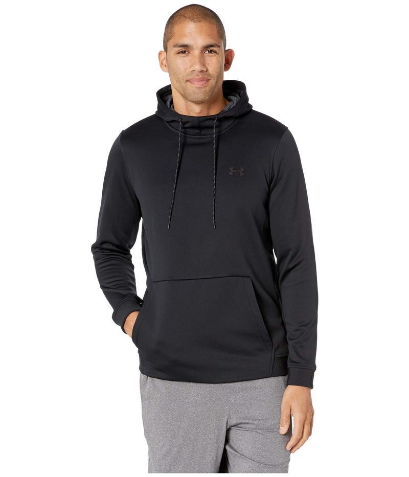アンダーアーマー メンズ パーカー・スウェット アウター Armour Fleece Pullover Hoodie Black/Black