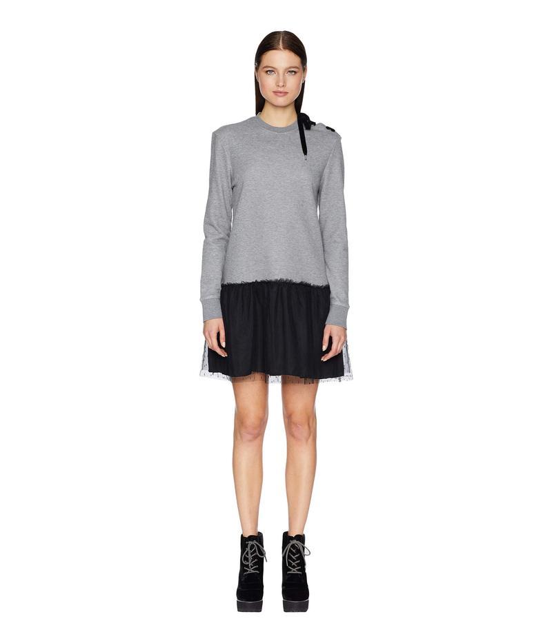 レッドヴァレンティノ レディース ワンピース トップス Oxford Dress Grey/Black