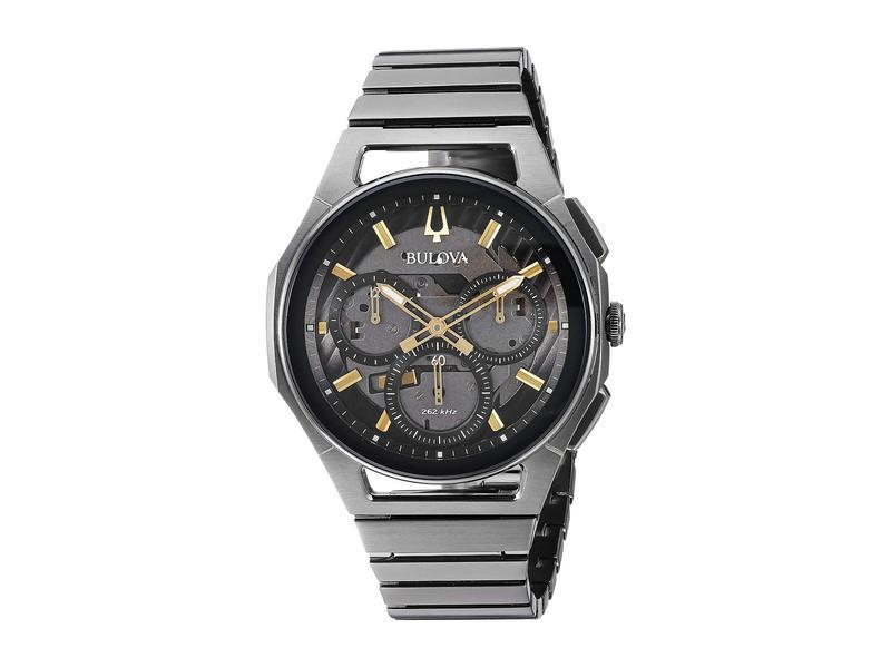 ブロバ メンズ 腕時計 アクセサリー Curv Bracelet - 98A206 Grey IP