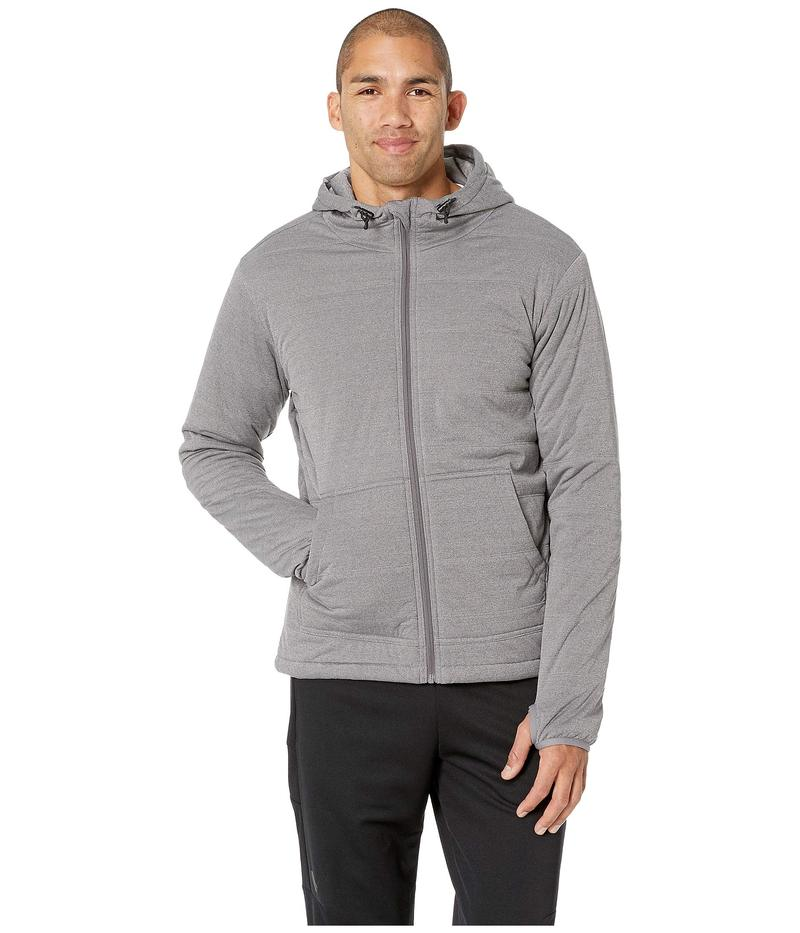 スノーピーク メンズ パーカー・スウェット アウター Flexible Insulated Hoodie Medium Grey