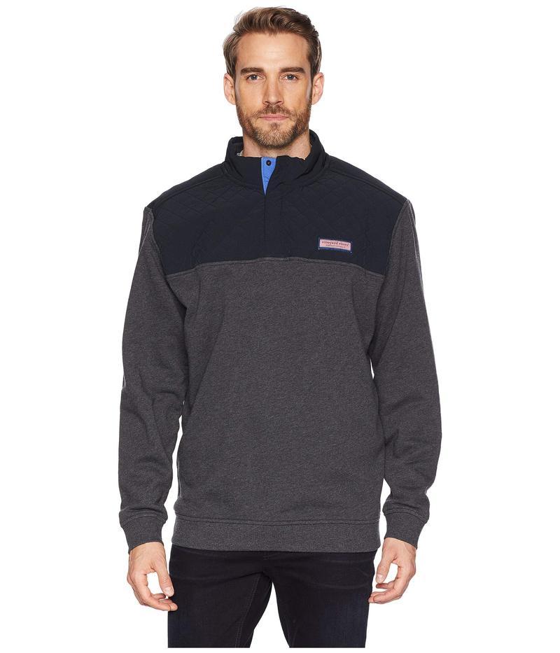 ヴァインヤードヴァインズ メンズ ニット・セーター アウター Quilted Nylon Shep Shirt Jet Black