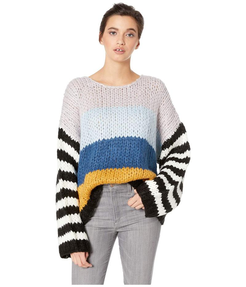 ブランクニューヨーク レディース ニット・セーター アウター Chunky Multicolor Sweater in Mixed Signals Mixed Signals