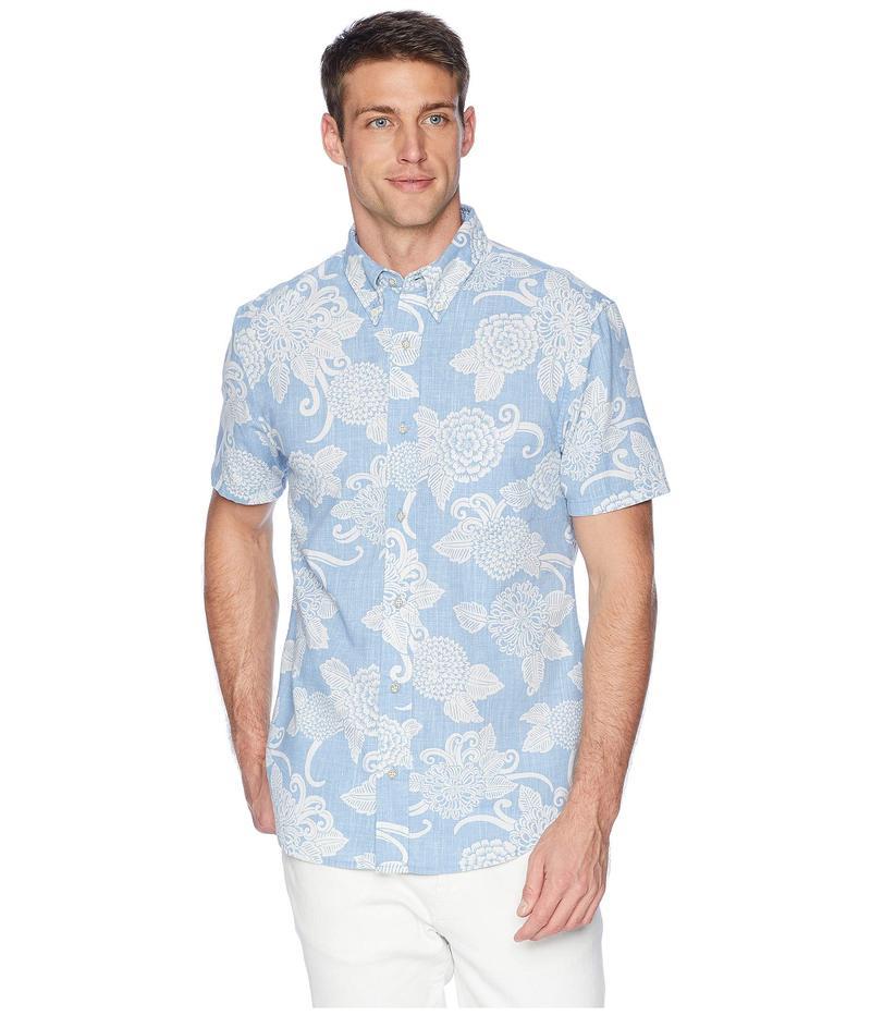 レインスプーナー メンズ シャツ トップス Opti Mums Tailored Fit Aloha Shirt Denim