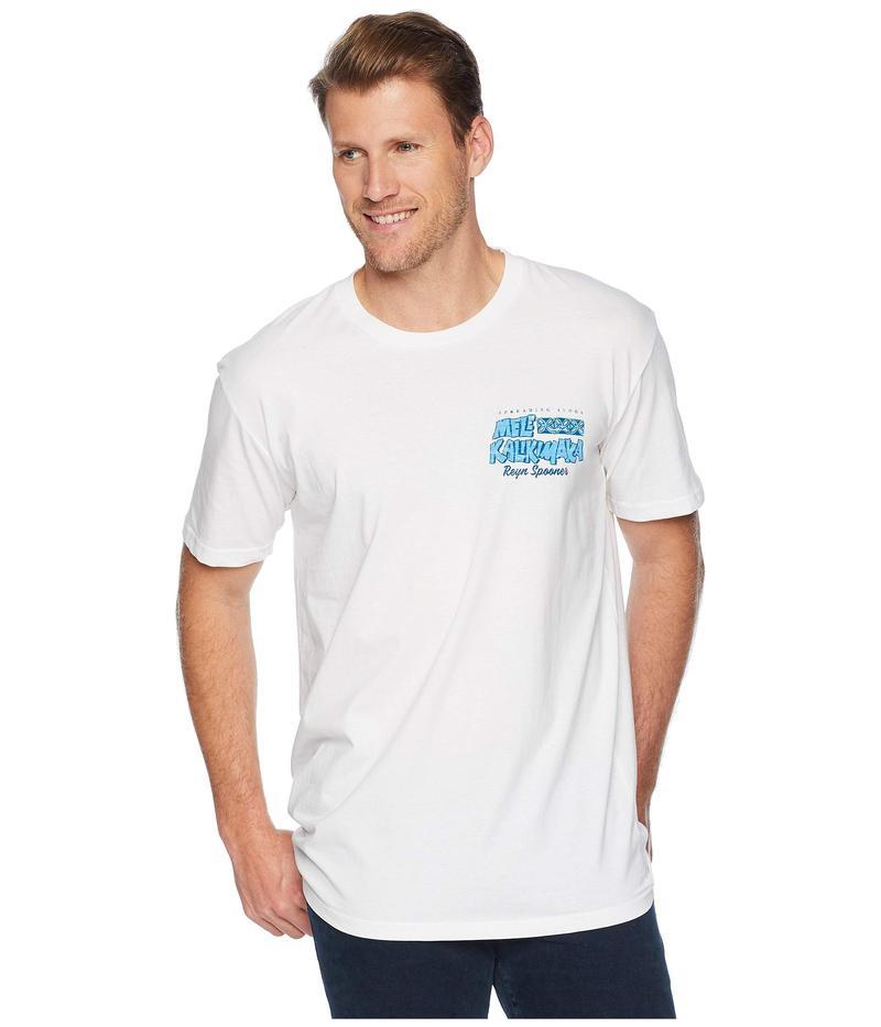 レインスプーナー メンズ シャツ トップス Surfboard Santa Short Sleeve T-Shirt White