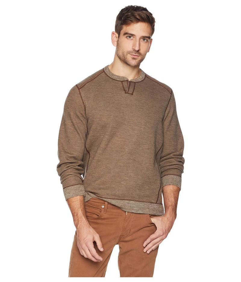 トッミーバハマ メンズ ニット・セーター アウター Reversible Flipsider Abaco Sweater Brownstone Heather