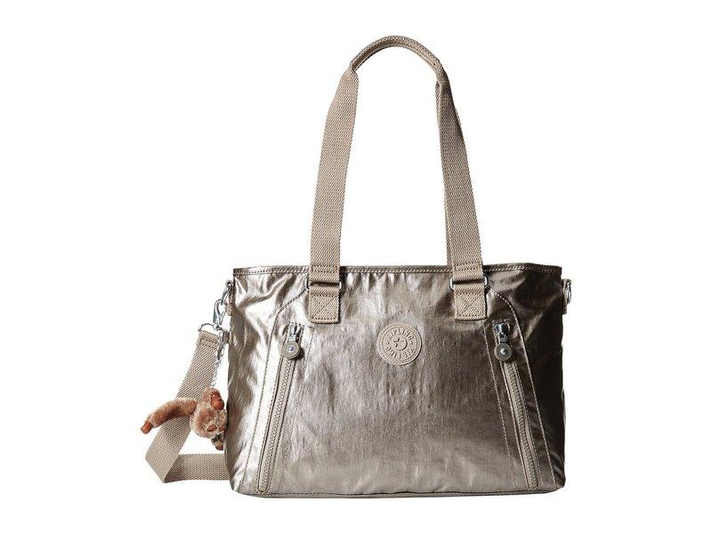 キプリング レディース ハンドバッグ バッグ Angela Medium Shoulder Bag Metallic Pewter