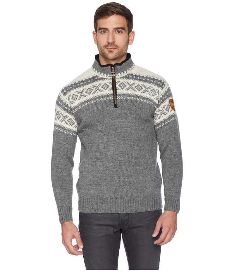 ダールオブノルウェイ メンズ ニット・セーター アウター Cortina 1/2 Zip Sweater E-Smoke/Off-White